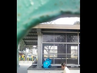 Bangalore couple outdoor bj in bus stand