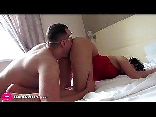 Brunette Blowjob Big Cock and Doggystyle POV