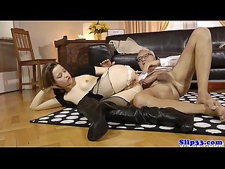 Euro amateur babe buttfucked by older man