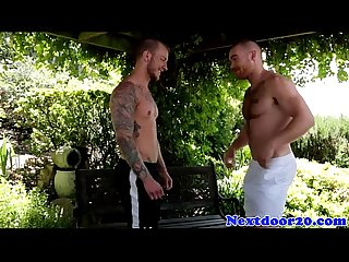 Gaysex amateur stud assfucked outdoors