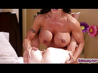 Angel Smalls sucking on Jewels Jade milf tits