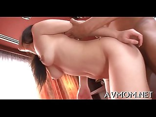 Milf asian whore and 3 dicks