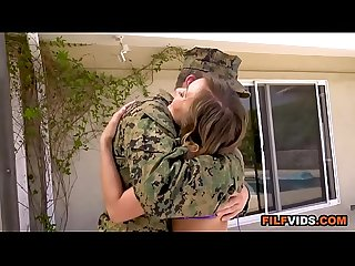 Hot mom fucks Military son