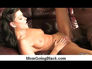 Watching my mom go black : Big black cock in tight wet pussy 5
