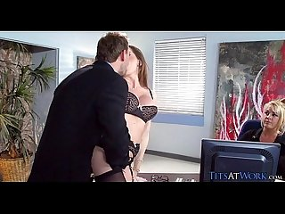 pornvideosdaily.top - Hot secretary works his cock