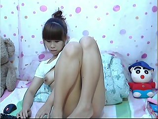 Chinese girl on webcam