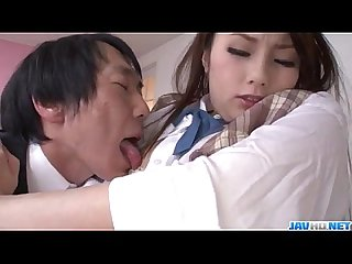 Runa Ayase schoolgirl in heats enjoys teacher┤s dick