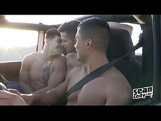 Brysen Deacon Ashers Spring Break gay threesome - Sean Cody