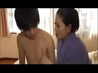 Erotic japanese milf with young boy