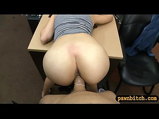 Sexy brunette babe screwed by pawn dude at the pawnshop