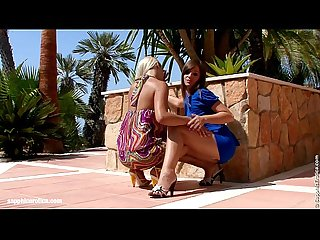 Backyard Rapture lesbian scene with rikki and cate by sapphix