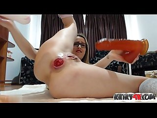 Hot girl fetish with cumshot