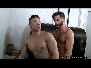 Straight Hairy Daddy Fucks Asian Muscle Behind Wife?s Back