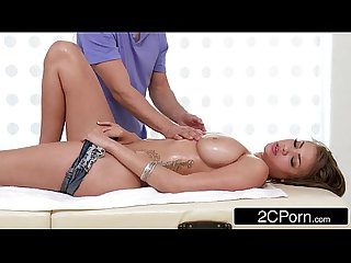Innocent little massage quickly turns into an oily fuck fest cassidy banks