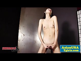 Asian tgirl rika t masturbating nude