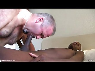Black twink fucks white mature