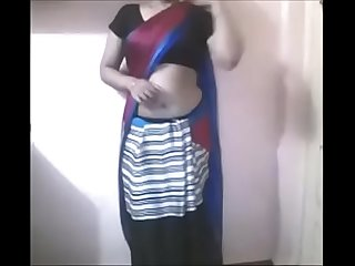 Desi girl Saree strip tease