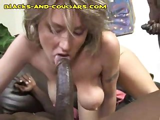 Black anal for a cougar