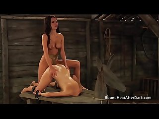 The Submissive: Big Natural Boobs Bouncing During Strap-on Sex