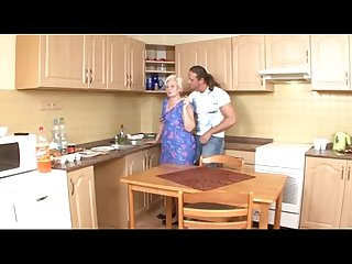 Mom serves up pussy in the kitchen fl