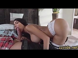 Cute brunette Lela Star fucked on bed