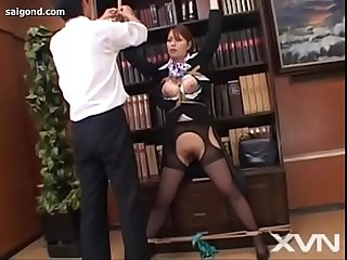 Japanese uncensored cabin attendant