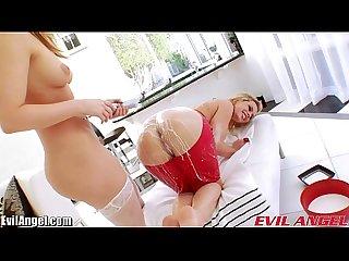 EvilAngel Alexis Texas Lesbian Milk Enema