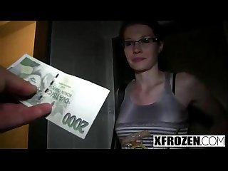 Xfrozen - A Czech student gets fucked for money part 1