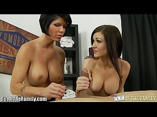 Big titty mother daughter blowjob lesson