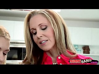 Stepmom julia ann teaches teen to suck and fuck cock