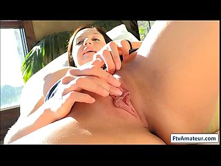 Cutie ftv girl brunette fingers pussy deep and spread her butt cheeks