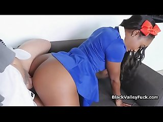 Black pussy craves for hard vanilla dicking
