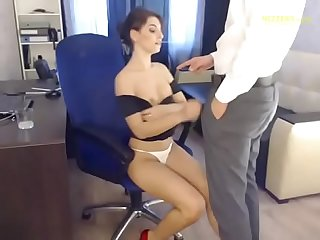 Hot account manager his boss live from office