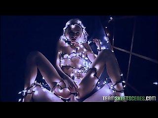 Cute Teen christmas lights fuck