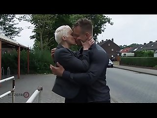 Hitzefrei big tit german milf picked up and fucked hard