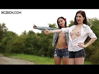 Lesbian hitchhiking with daphne angel xczech com