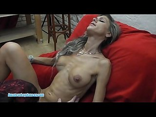 Skinny milf lapdances gives bj and fucks in few positions