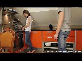 Teens analyzed first anal sex serpente edita in the kitchen