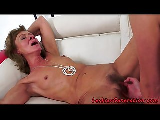 Mature oral serving busty eurobabe