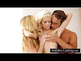 Nubiles casting cum swapping cutie