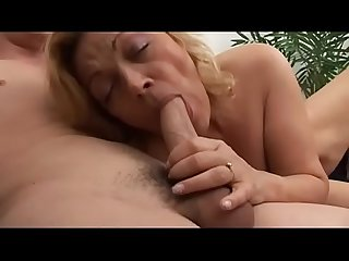 Dirty mom spies her son in bathroom