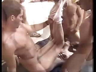 Construction site gangbang