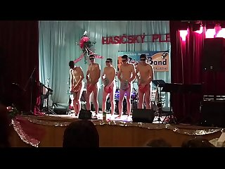 Horny guys exhib naked in public