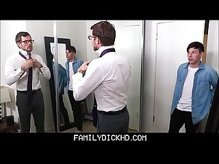 Young Stepson school boy sex with stepdad before parent teacher conference