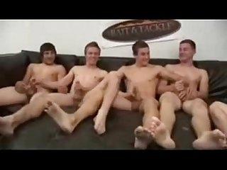 6 caras numa roda de punheta 6 frat guys circle jerk