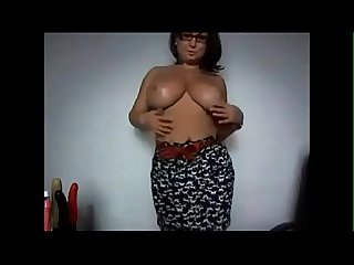 Busty wife teasing on webcam watch live at www foxycams online