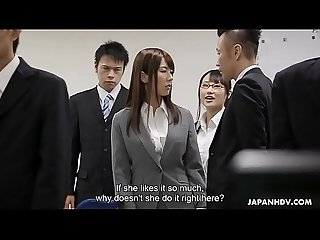 Japanese co- workers, Yui Hatano and Yoshimi Saaya's rivalry, uncensored