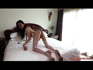 Ladyboy swan pleasures a guy and gets fucked bareback