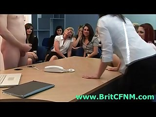 British cfnm girls play with naked guy