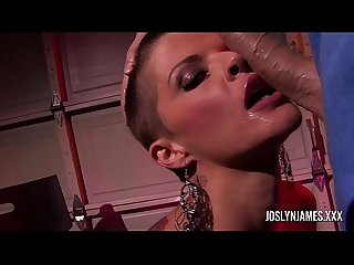 Big tit Joslyn James sucking a big cock in POV